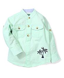 Babyhug Full Sleeves Shirt Palm Tree Print - Green