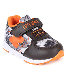 Cute Walk by Babyhug Casual Shoes With Velcro Closure - Brown Orange