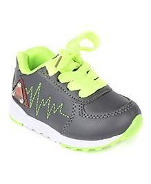 Cute Walk by Babyhug Slip On Style Casual Shoes - Grey Light Green