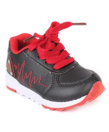 Cute Walk by Babyhug Slip On Style Casual Shoes - Black Red