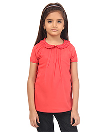 Oxolloxo Half Sleeves Top - Red