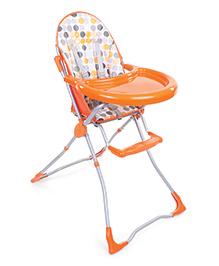 High Chair Circle Print - Orange