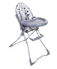 High Chair Circle Print - Grey