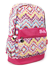 Barbie Rainbow School Bag Pink & Multicolor - 19 Inches