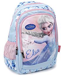Disney Frozen School Bag Elsa Print Light Aqua & Pink - 17 Inches