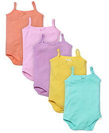 Babyhug Singlet Onesies Pack of 5 - Multicolour
