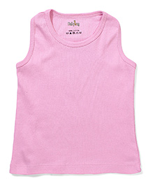 Babyhug Solid Color Racer Back Slip - Pink