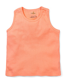Babyhug Solid Color Racer Back Slip - Light Orange
