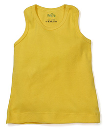 Babyhug Solid Color Racer Back Slip - Light Yellow