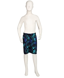 Speedo Printed Swimming Trunks With Drawstring - Blue