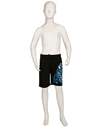 Speedo Swimming Trunks With Brand Print - Black
