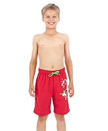Speedo Printed Swimming Trunks With Drawstring - Red