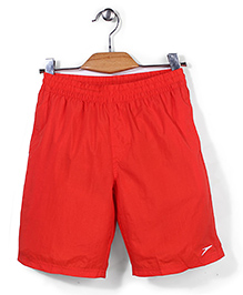 Speedo Plain Solid Color Swimming Trunks - Red
