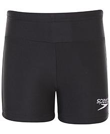 Speedo Logo Print Swimming Trunks - Black