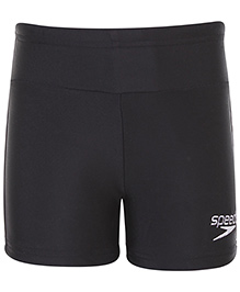 Speedo Logo Print Swimming Trunks - Black