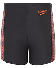 Speedo Logo Print Swimming Trunks - Black Orange