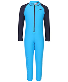 Speedo Full Sleeves Legged Swimsuit - Blue