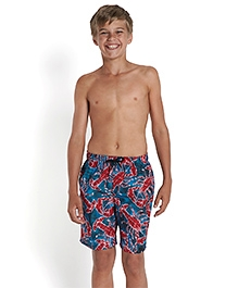 Speedo Printed Swimming Trunks - Blue