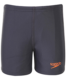 Speedo Logo Print Swimming Trunks - Grey
