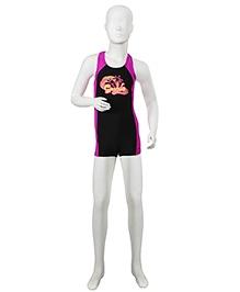 Speedo Printed Legged Swim Suit - Black
