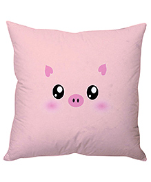 Stybuzz Piggy Face Cushion Cover - Baby Pink