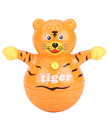 Kumar Toys Roly Poly Animal World Tumbler Tiger Toy - Orange