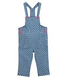 My Lil'Berry Denim Dungaree Polka Dots Print - Blue