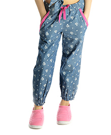 My Lil'Berry Denim Pants Floral Print - Blue