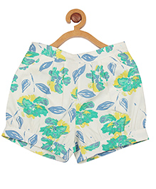 My Lil' Berry Shorts Leaves Print - Multi Color