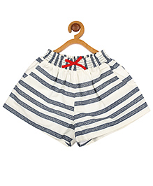 My Lil' Berry Striped Shorts - Blue and White