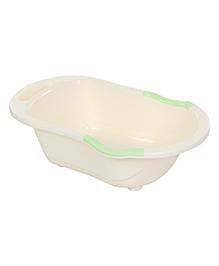 Baby Bath Tub Printed - Cream Green