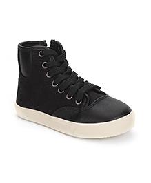 DingDingWa Stylish Lace Shoes - Black
