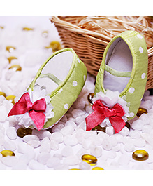 D'chica Polka Dot Party Shoes - Green