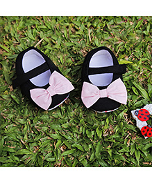 D'chica Elegant Shoes With Bow - Pink and Black