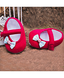 D'chica Pretty Little Bow Shoes - Red & Blue