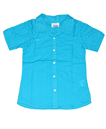Young Birds Textured Shirt - Maui Blue