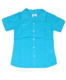 Young Birds Textured Shirt - Maui Blue