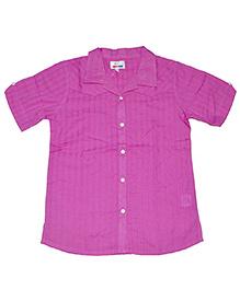 Young Birds Textured Shirt - Petunia Pink
