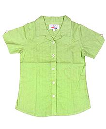 Young Birds Textured Shirt - Kiwi Green
