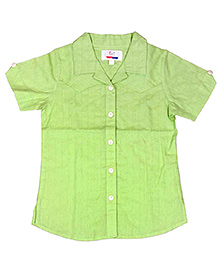 Young Birds Textured Shirt - Kiwi Green