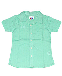 Young Birds Textured Shirt - Green Tea