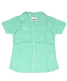 Young Birds Textured Shirt - Green Tea