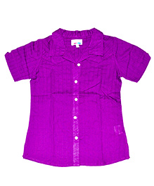 Young Birds Textured Shirt - Purple