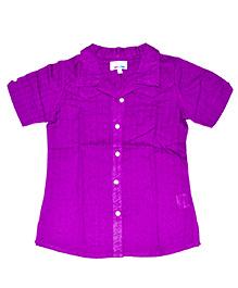 Young Birds Textured Shirt - Purple