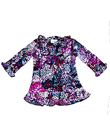 Young Birds Ruffle Top - Purple