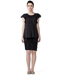 House Of Napius Radiation Safe Peplum Dress - Black
