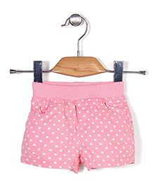 Fox Baby All Over Dotted Shorts - Pink