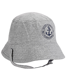 Fox Baby Never Fearful Print Cap - Grey