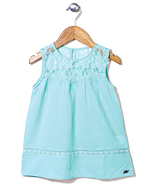Gini & Jony Sleeveless Top Lace Detailing - Sea Green