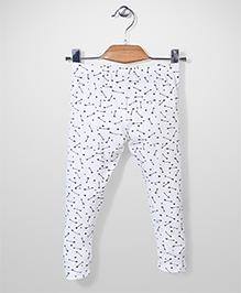 Gini & Jony Full Length Star And Arrow Print Elasticated Leggings - White
